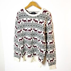 Forever 21 reindeer sweater Sz L